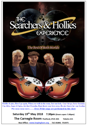 Searchers & Hollies Thetford May2018